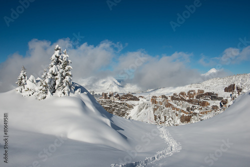 Fotografia, Obraz  Avoriaz in Winter, seen from les Hauts-Forts