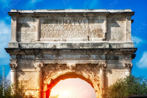 Cuadros en Lienzo The Arch of Titus, Rome. Italy