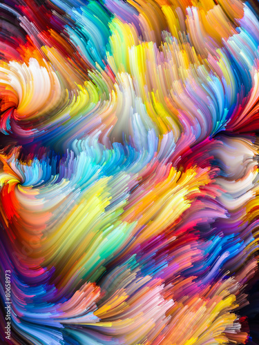 Fototapety, obrazy: Unfolding of Color