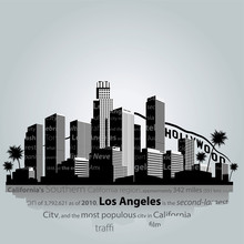 Los Angeles City Silhouette.