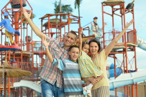 Poster Attraction parc parents with children