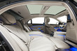 White car interior with blue ambient light