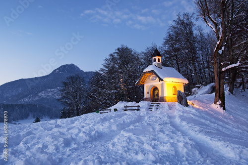 Foto Chapel at Lockstein in Berchtesgaden, Germany.