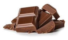 Chocolate Bars Isolated On Whi...