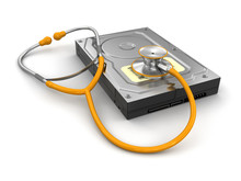 Stethoscope And Hard Drive