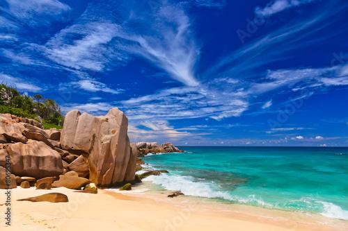 Foto op Canvas Eiland Tropical beach at Seychelles