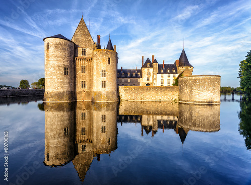 Deurstickers Kasteel The chateau (castle) of Sully-sur-Loire, France