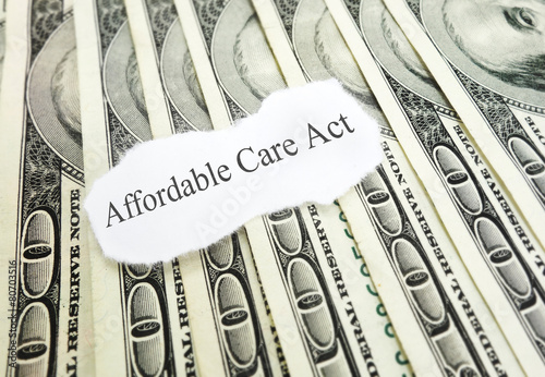 Affordable Care Act money Tablou Canvas
