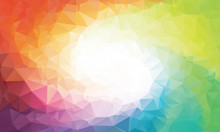 Colorful Rainbow Polygon Backg...