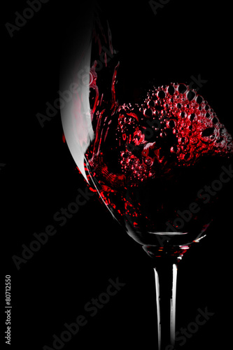 Glass of red wine close-up - 80712550