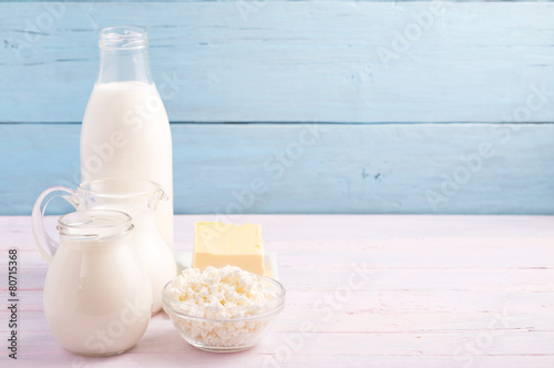Fotografía  Dairy products at left side