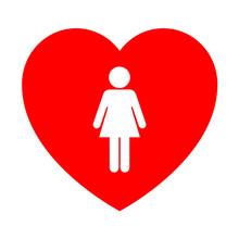 Icono Corazon Simbolo Mujer