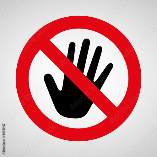 no touch icon great for any use. Vector EPS10. Fototapete