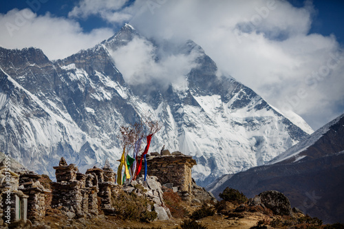 Wall Murals Nepal Himalayan mountains view