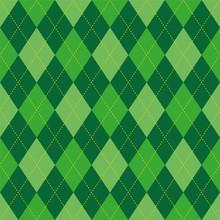 Argyle Pattern Green Rhombus S...