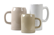 Three Ceramic Beer Mugs