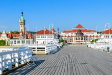 Wooden Pier In Sopot Seaside T...