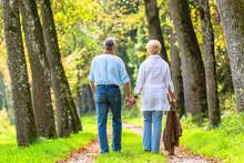 Senior Mann Und Frau Halten Ha...