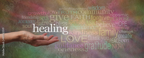 Healing Words Parchment Website Header Canvas Print
