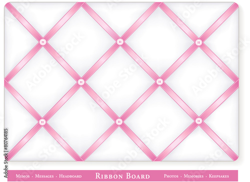 Bulletin Board Baby Pink Satin Ribbon Diy Decor Headboard Buy