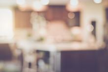 Blurred Modern Kitchen With Re...