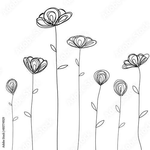szkicowane-kwiaty-polne-z-listkami-na-bialym-tle
