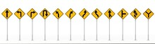 Traffic Signs Isolated On White Background