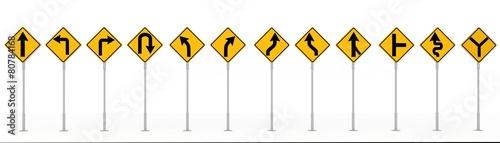 Obraz na płótnie traffic signs isolated on white background