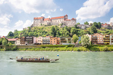 Castle Of Burghausen With Salz...