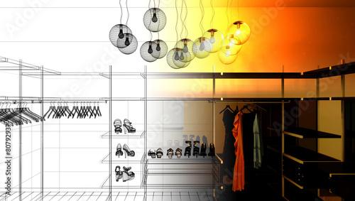 Fotografie, Obraz  Guardaroba interior abitazione, moda