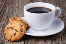 Cup Of Coffee With Cookies On ...