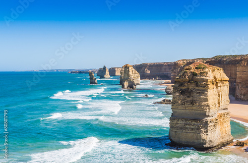 Fényképezés  The twelve apostles on the great ocean road in Victoria Australi