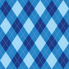 Argyle Pattern Blue Rhombus Se...