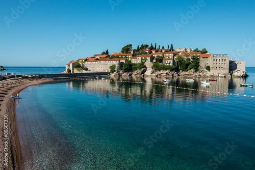 Sveti Stefan island, Budva, Montenegro Canvas Print
