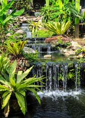 Panel Szklany Wodospad Waterfall in Phuket Butterfly Garden