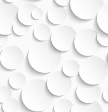 Seamless Pattern Of White Circles With Drop Shadows