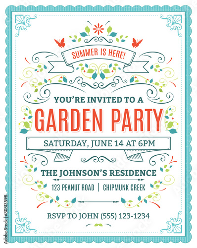 Fotografía  Garden Party Invitation