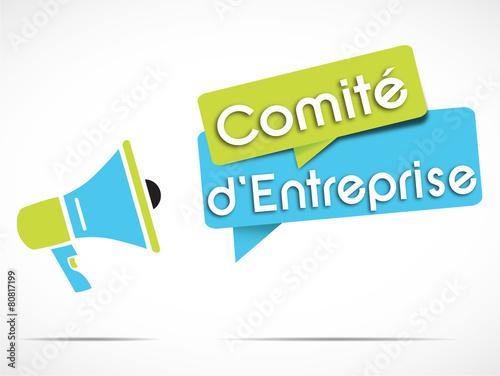 Fotografie, Obraz  mégaphone : comité d'entreprise