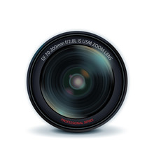 Camera Lens, Vector Illustration