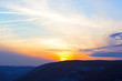 Sunset over the Allegheny Mountain Range in West Virginia, USA