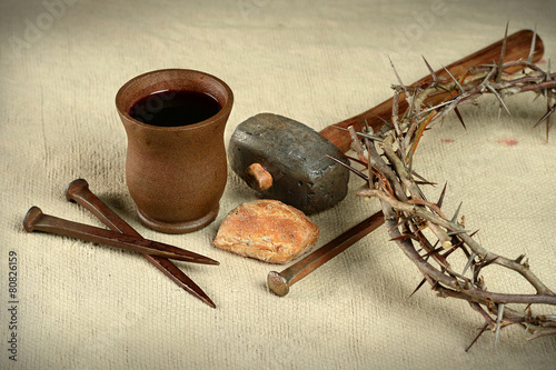 Fotografie, Obraz  Communion Nails and Crown of Thorns