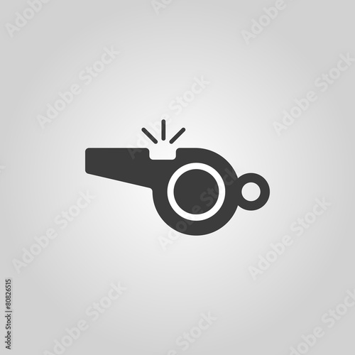 The whistle icon. Referee symbol. Flat Canvas-taulu