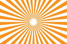 Orange Burst Background. Vector Illustration