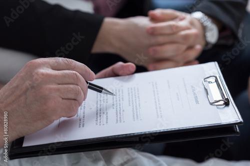 Obraz na plátně  Last will and testament document