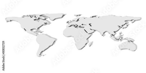 3D World map.