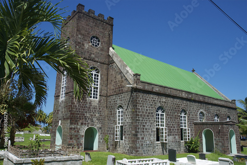 Deurstickers Caraïben Church Georgetown St Vincent & The Grenadines Caribbean 04