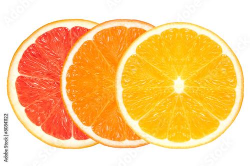 Closeup of Healthy Fresh Citrus Fruits. Clean Eating