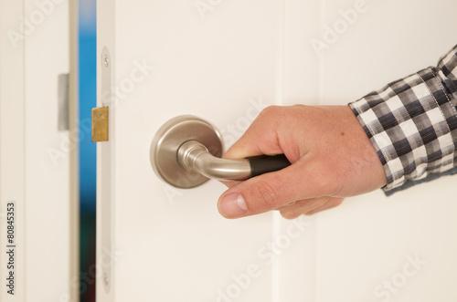 Fototapeta Concept door and lock obraz na płótnie