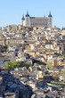 Panoramic view of Toledo and Alcazar (Spain)