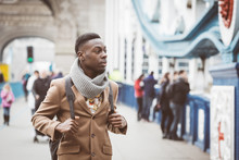 Young Black Man In London Walk...